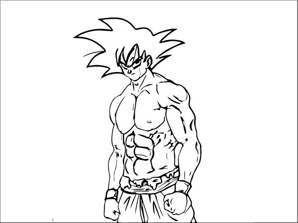 Goku We Coloring Page 163