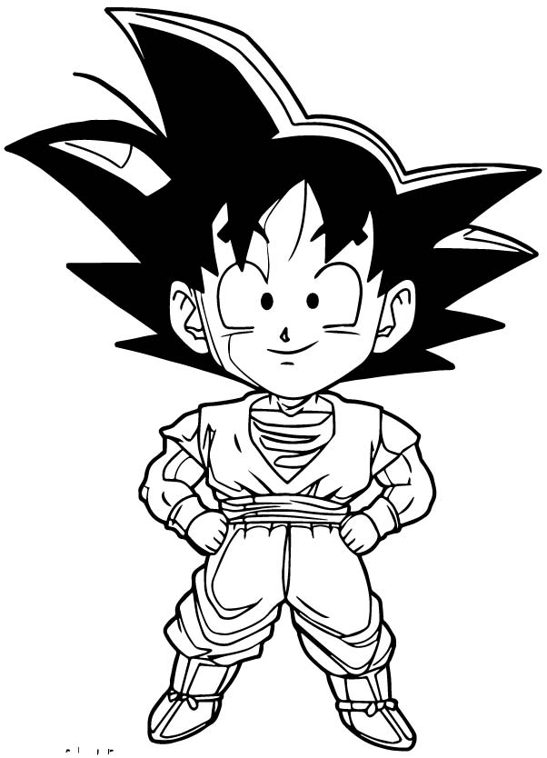 Goku We Coloring Page 164