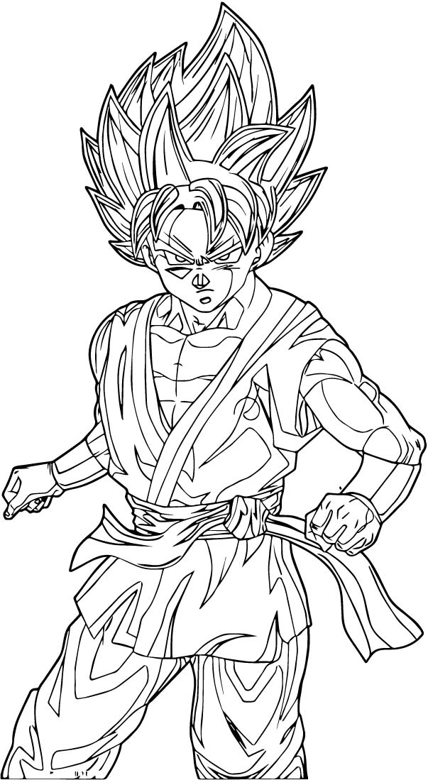 Goku We Coloring Page 176