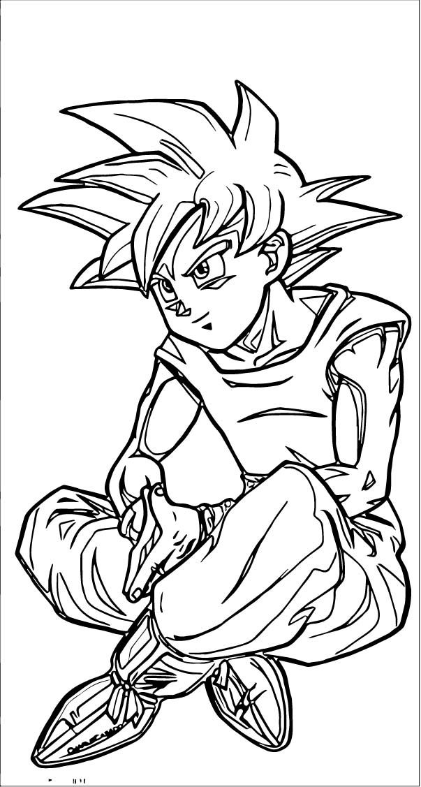 Goku We Coloring Page 178