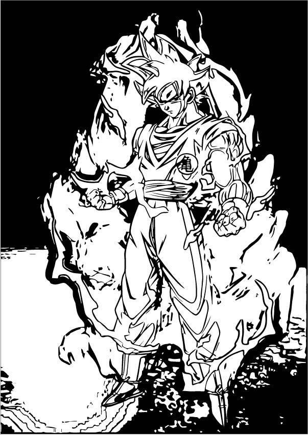 Goku We Coloring Page 179