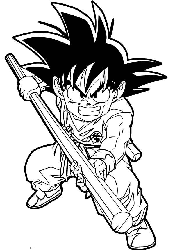 Goku We Coloring Page 194