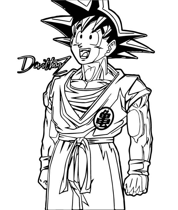 Goku We Coloring Page 195