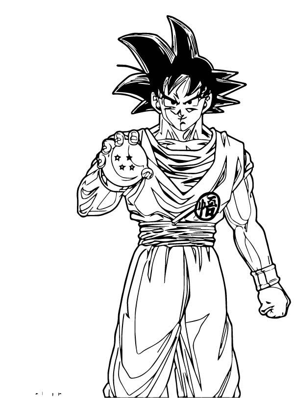 Goku We Coloring Page 200