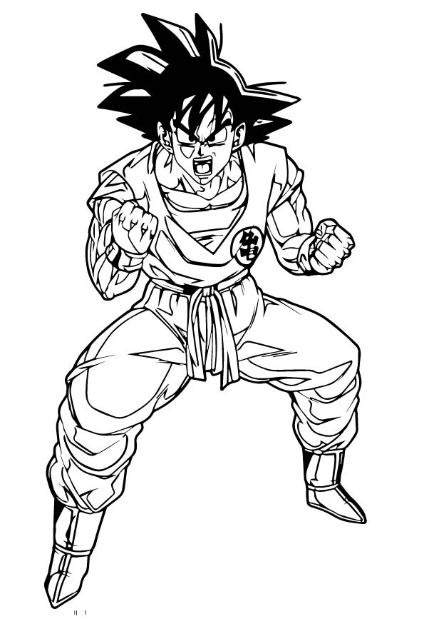 Goku We Coloring Page 201
