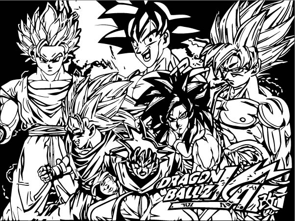 Goku We Coloring Page 202