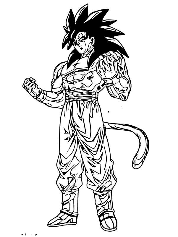 Goku We Coloring Page 205
