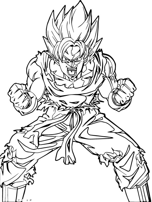 Goku We Coloring Page 211