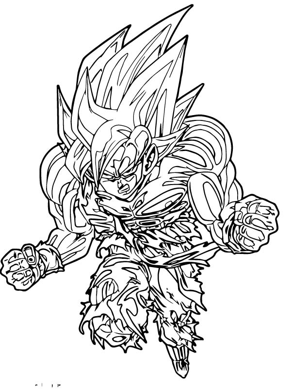 Goku We Coloring Page 212