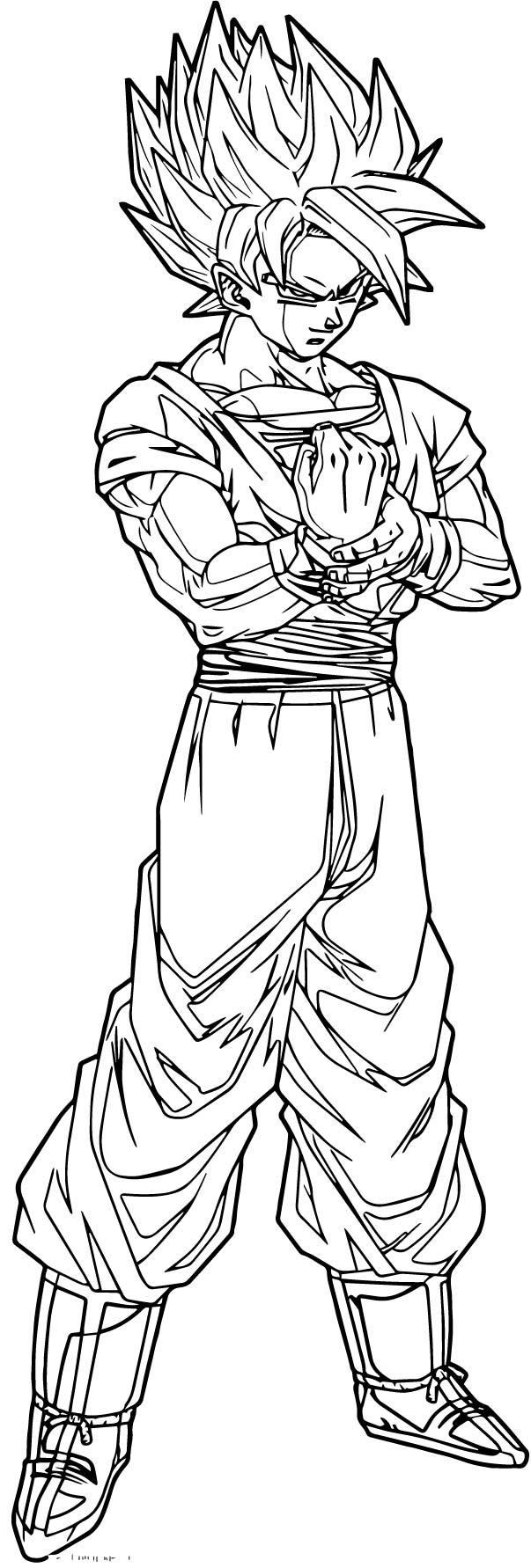 Goku We Coloring Page 214