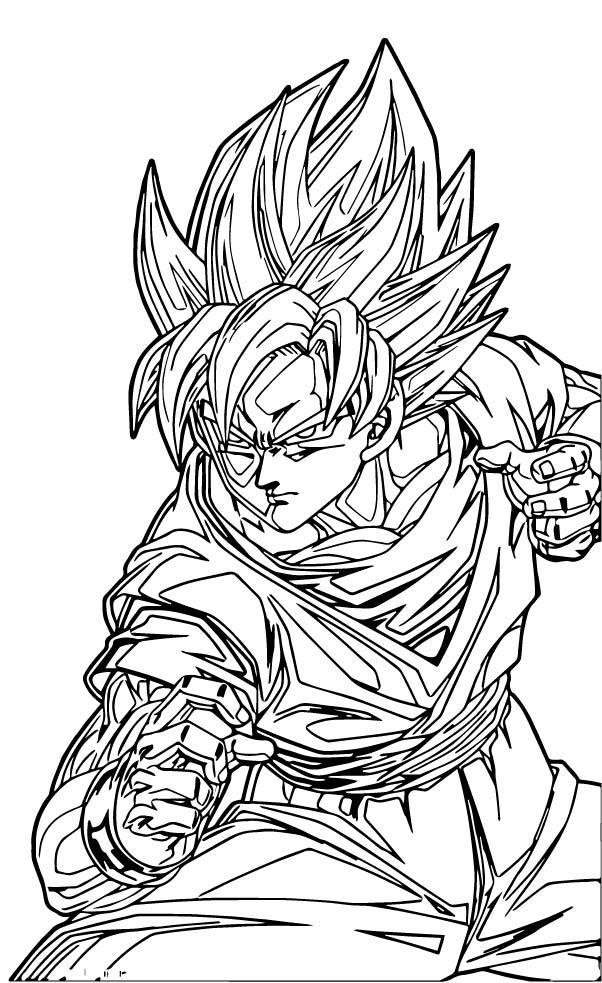 Goku We Coloring Page 216