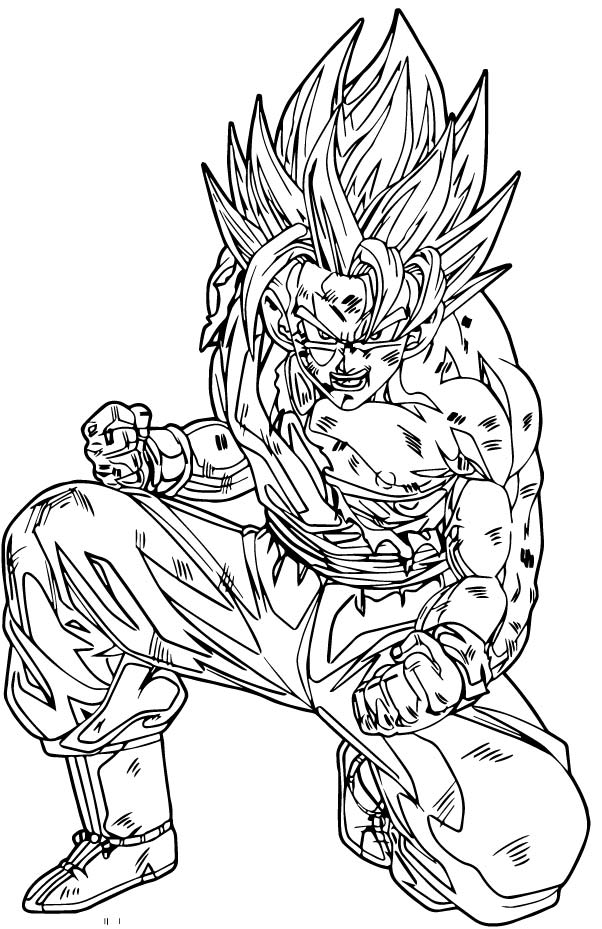 Goku We Coloring Page 229
