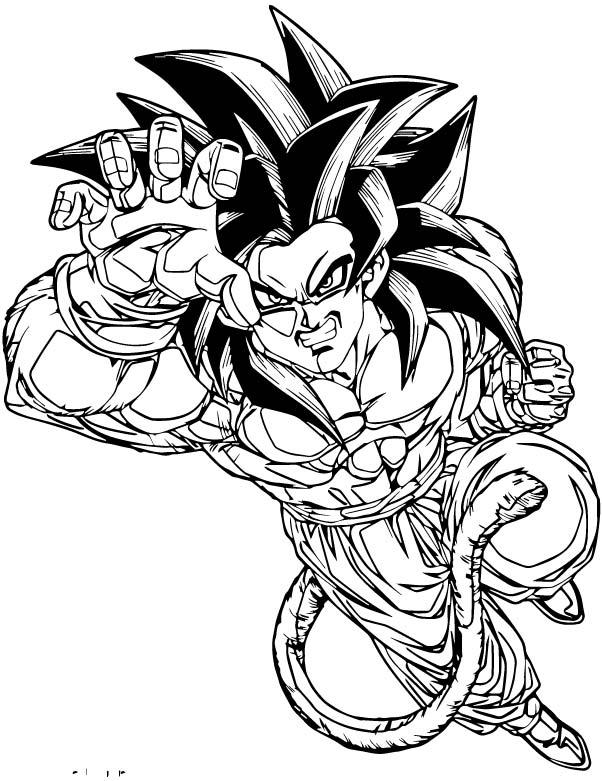 Goku We Coloring Page 238