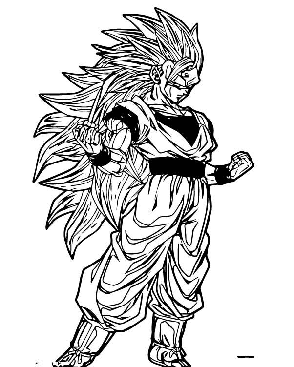 Goku We Coloring Page 240
