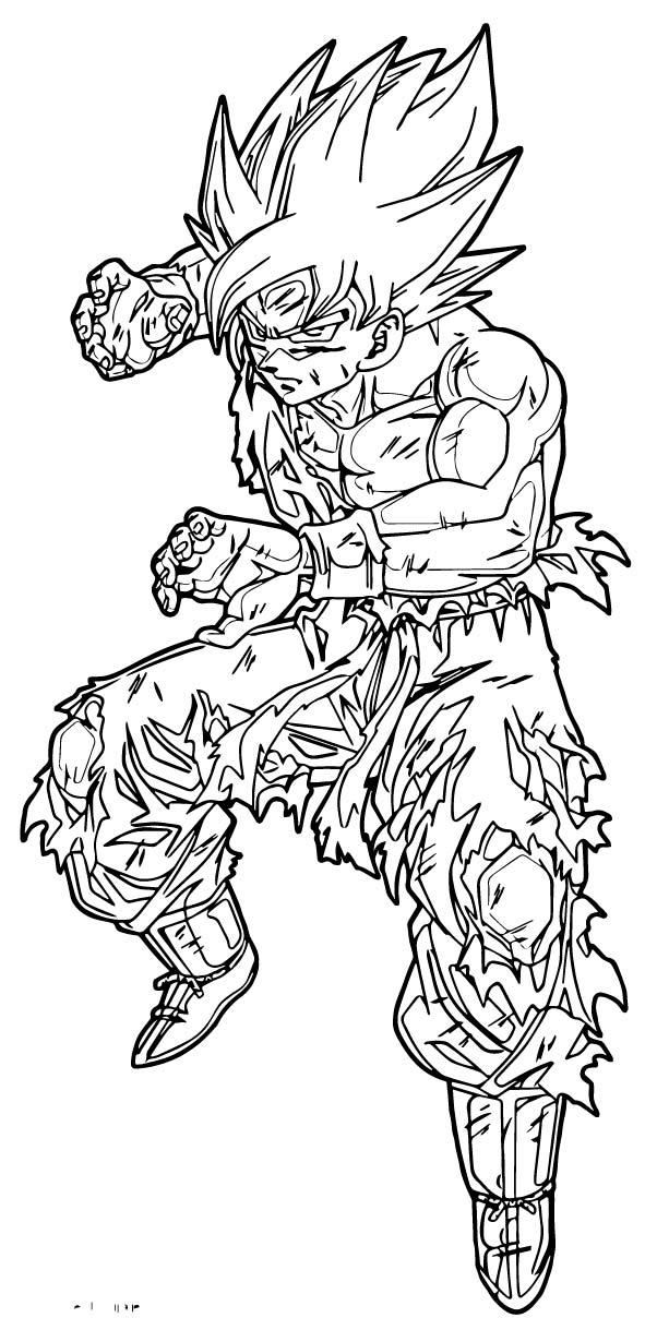 Goku We Coloring Page 243