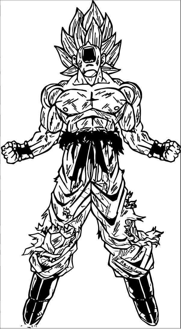 Goku We Coloring Page 244