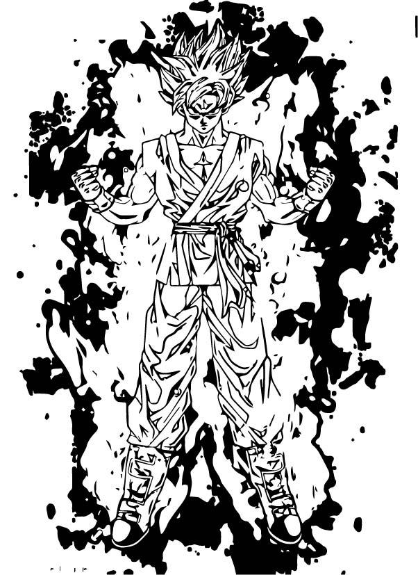 Goku We Coloring Page 249
