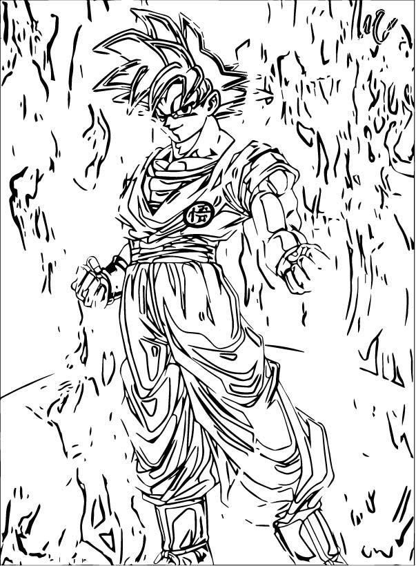 Goku We Coloring Page 250