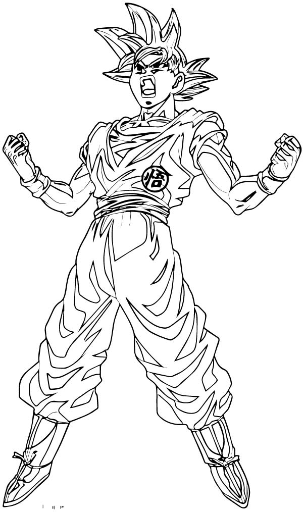 Goku We Coloring Page 252