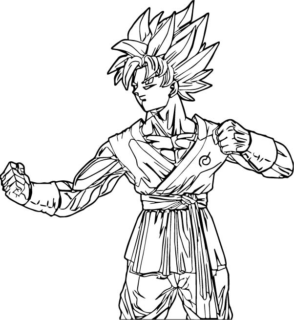 Goku We Coloring Page 254