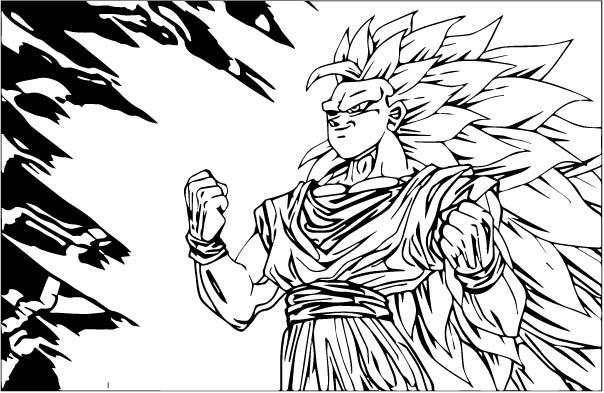Goku We Coloring Page 258