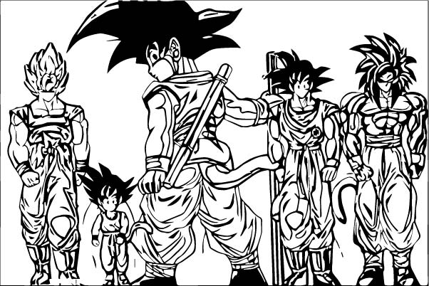 Goku We Coloring Page 259