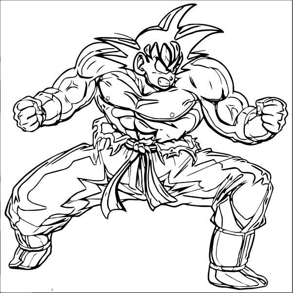 Goku We Coloring Page 262
