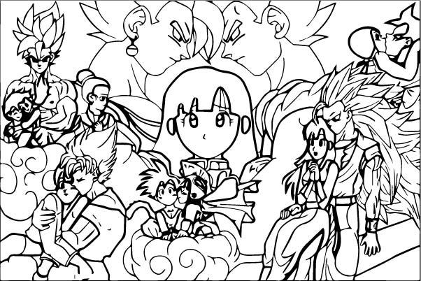 Goku We Coloring Page 279