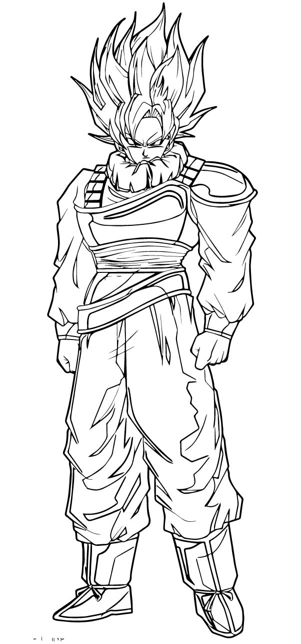 Goku We Coloring Page 282