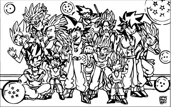 Goku We Coloring Page 283