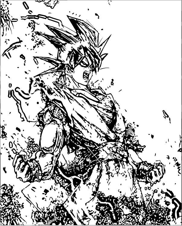 Goku We Coloring Page 303