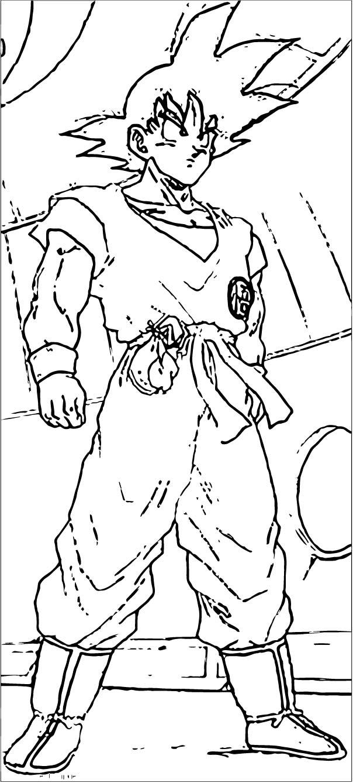 Goku We Coloring Page 330