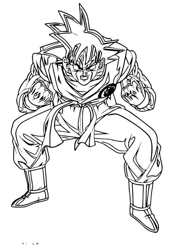 Goku We Coloring Page 354