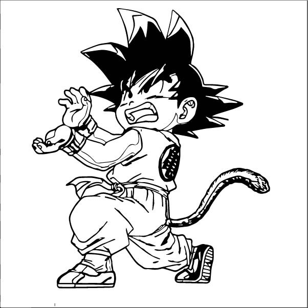 Goku We Coloring Page 355
