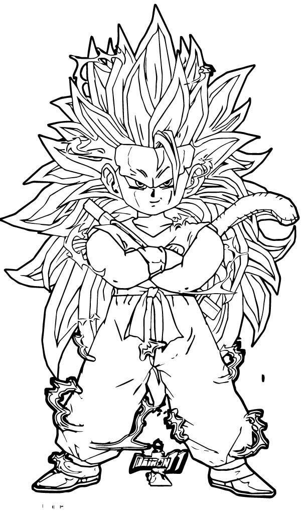 Goku We Coloring Page 358
