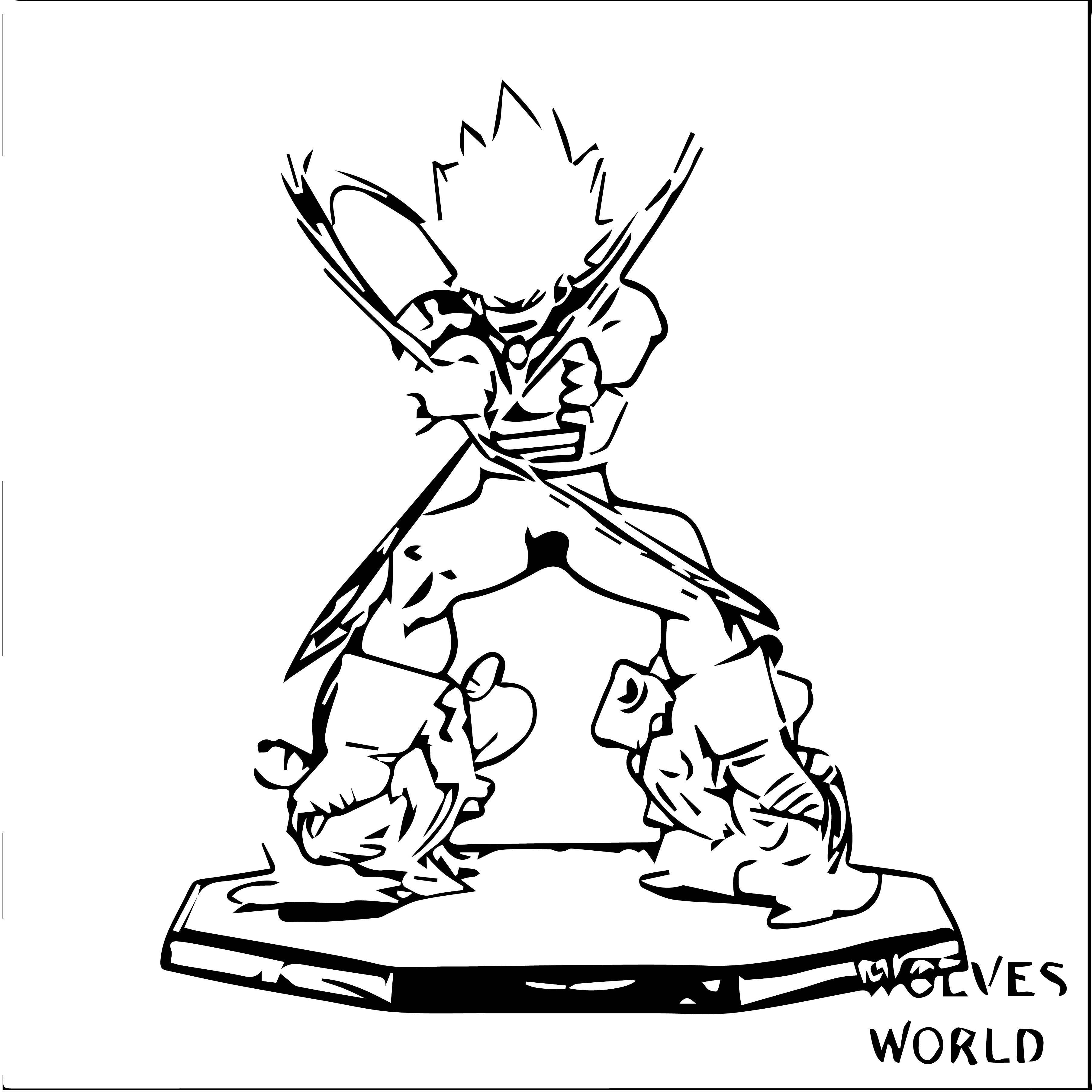 Goku We Coloring Page 379