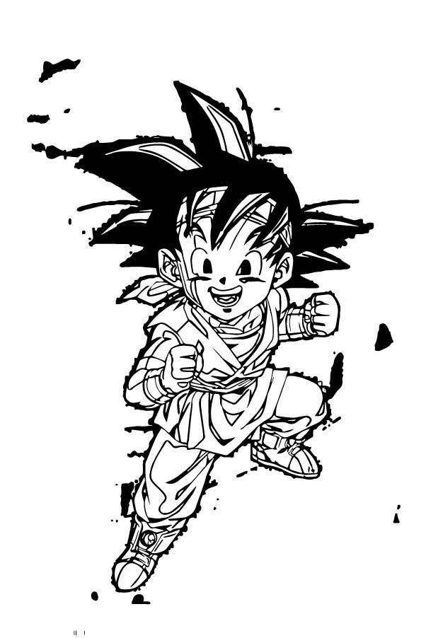 Goku We Coloring Page 385