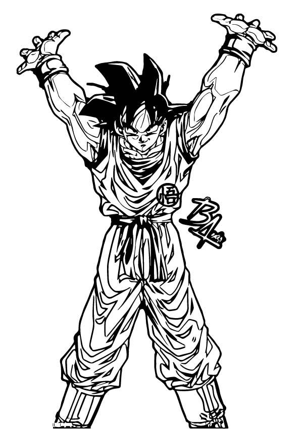 Goku We Coloring Page 388