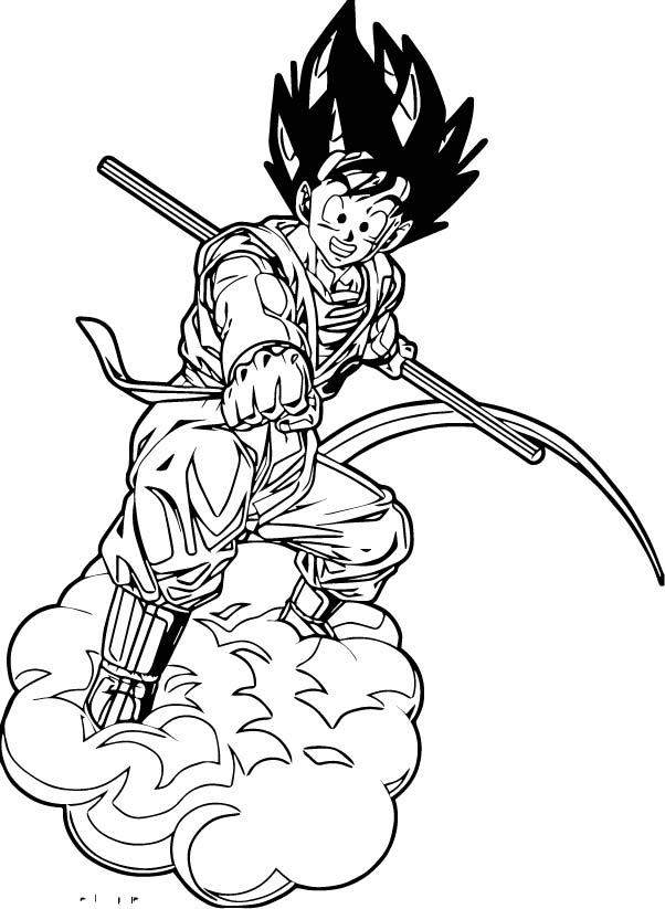 Goku We Coloring Page 392