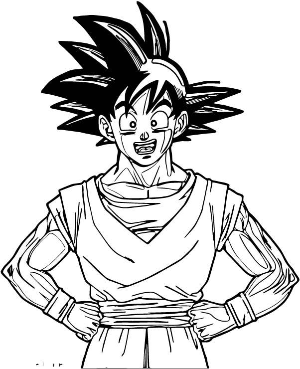 Goku We Coloring Page 393