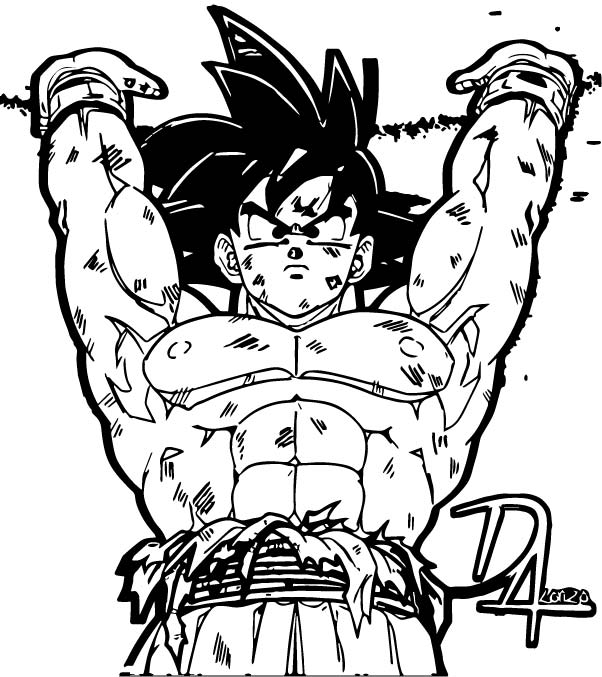 Goku We Coloring Page 394