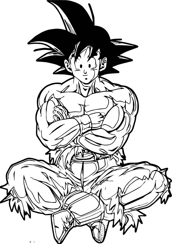 Goku We Coloring Page 395