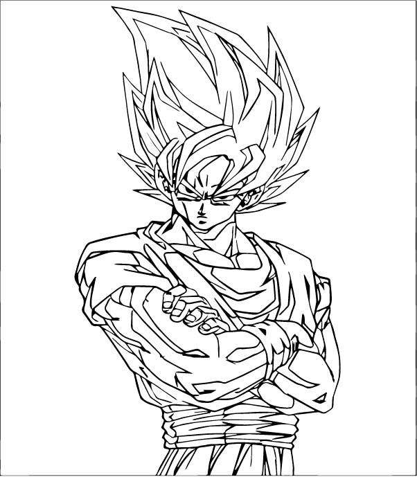 Goku We Coloring Page 404
