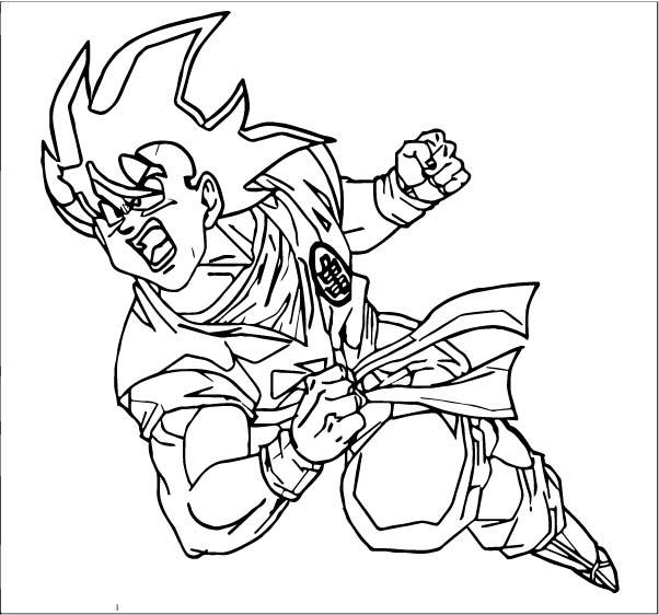 Goku We Coloring Page 410