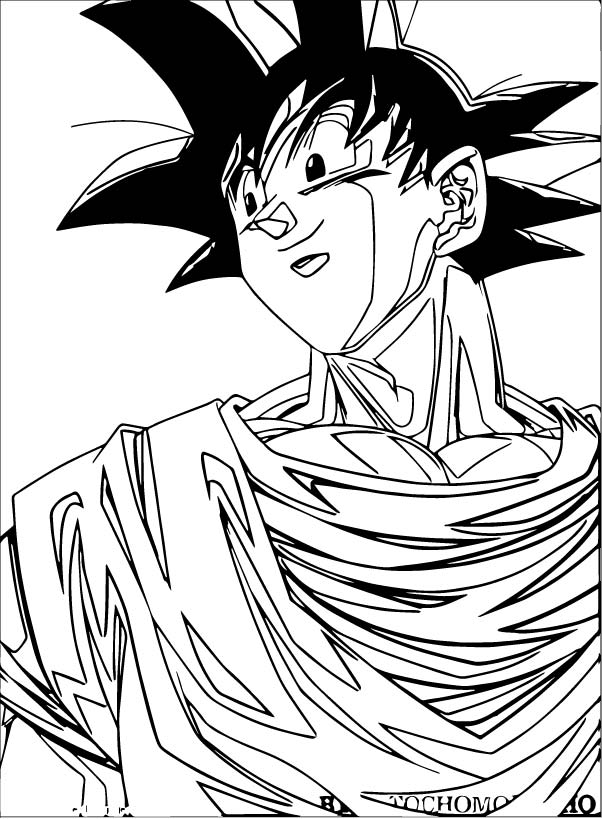 Goku We Coloring Page 411