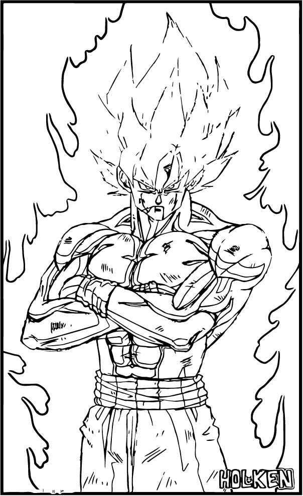 Goku We Coloring Page 413