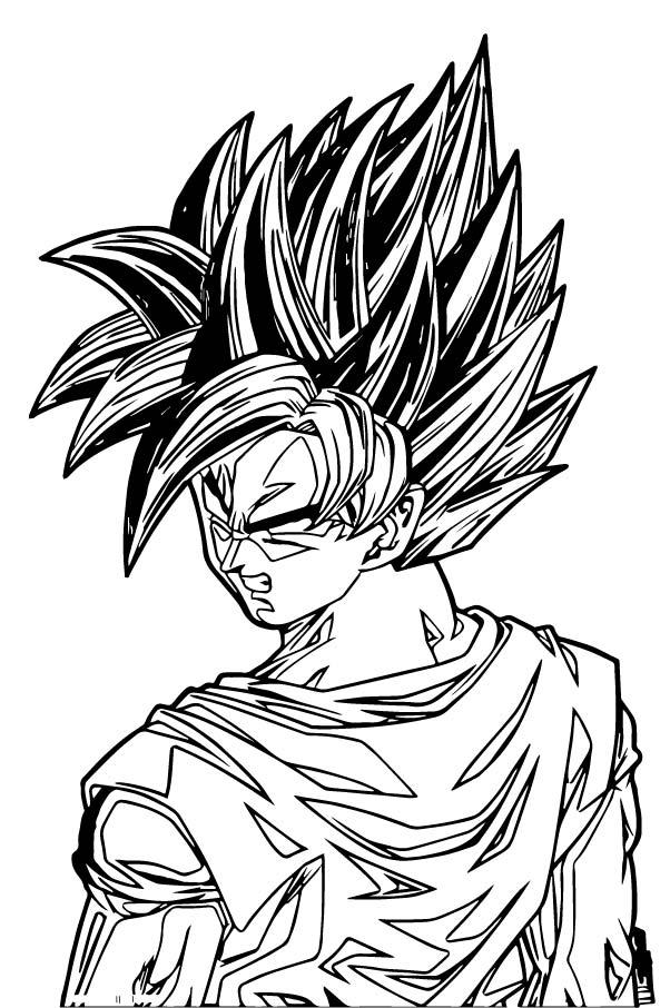 Goku We Coloring Page 414
