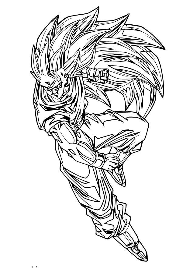 Goku We Coloring Page 415