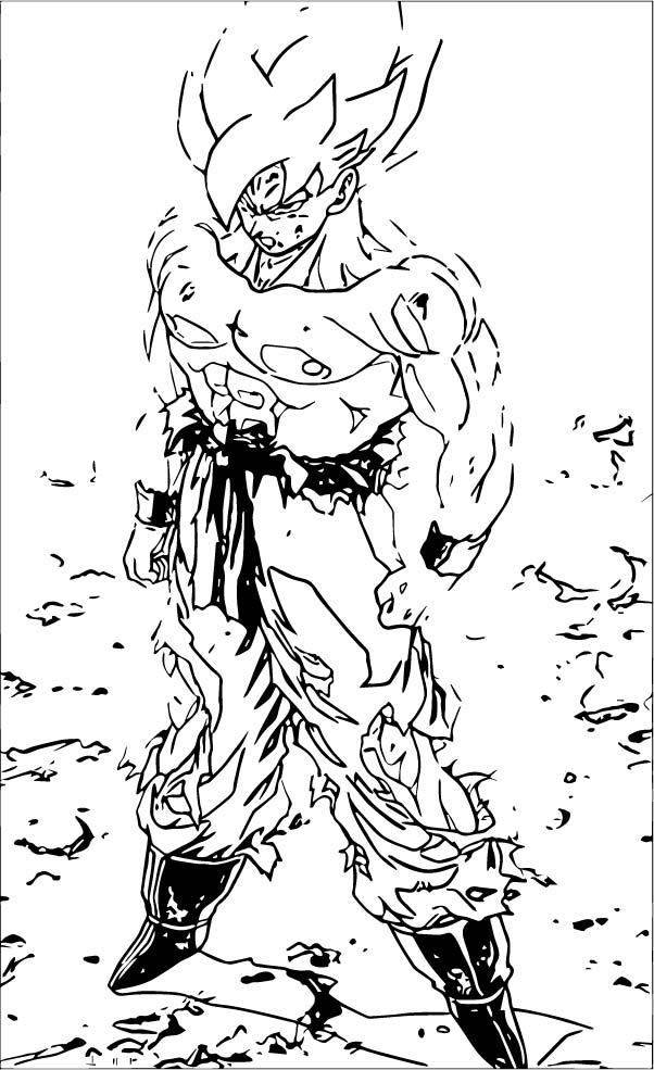 Goku We Coloring Page 420
