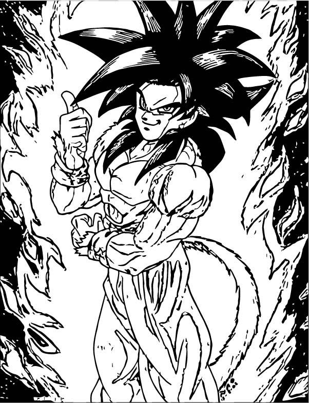 Goku We Coloring Page 423